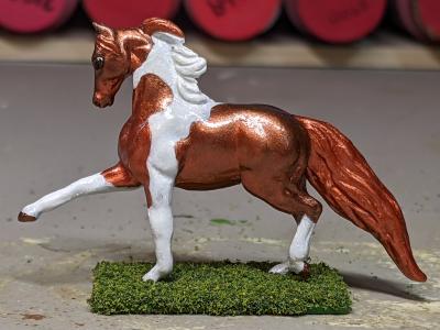 Foxfire - Custom Breyer Breyer Mini Whinnie Trotting Morgan Stallion - Martha Bechtel - Left