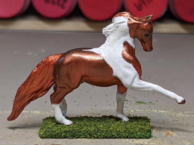 Foxfire - Custom Breyer Breyer Mini Whinnie Trotting Morgan Stallion - Martha Bechtel - Right