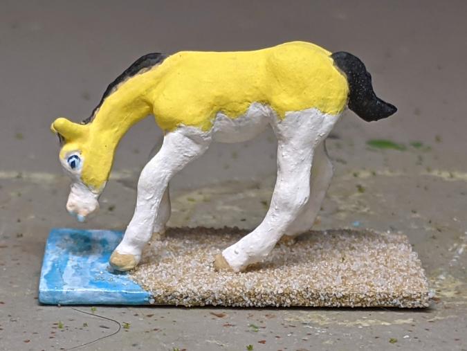 Gelbspritz - Custom Breyer Mini Whinnie Grazing Foal - Martha Bechtel - Left
