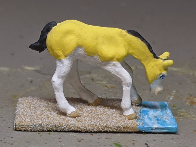Gelbspritz - Custom Breyer Mini Whinnie Grazing Foal - Martha Bechtel - Right