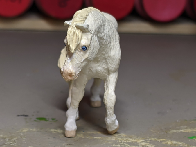 Ghost - Custom Safari Ltd TOOB Walking Pony - Martha Bechtel - Nose