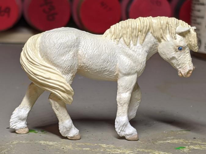Ghost - Custom Safari Ltd TOOB Walking Pony - Martha Bechtel - Right