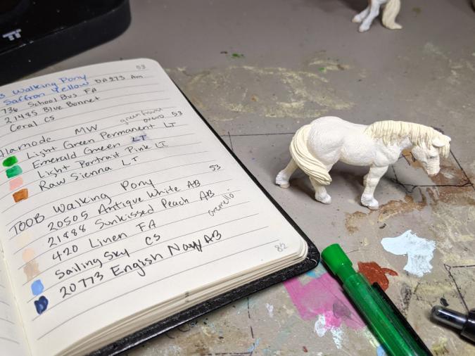 Ghost - Custom Safari Ltd TOOB Walking Pony - Martha Bechtel - WIP