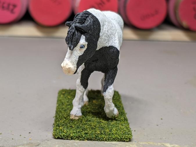 Magpie - Custom Safari Ltd TOOB Walking Pony - Martha Bechtel - Nose