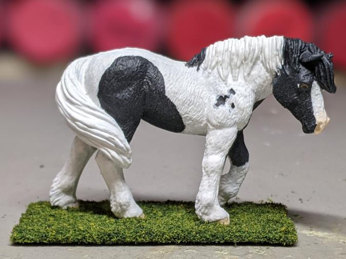 Magpie - Custom Safari Ltd TOOB Walking Pony - Martha Bechtel - Portrait