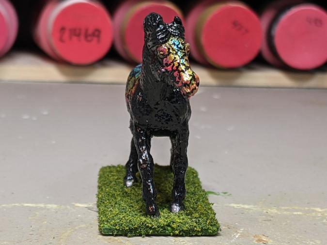 Orion - Custom Safari Ltd TOOB Running Pony - Martha Bechtel - Nose