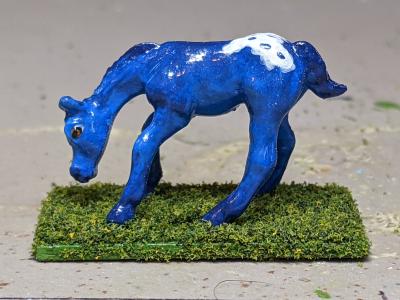 Puddlejump - Custom Breyer Mini Whinnie Grazing Foal - Martha Bechtel - Left