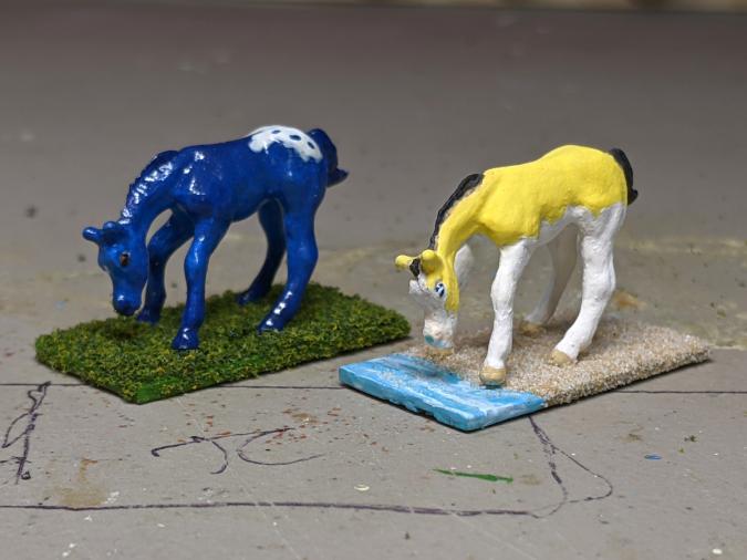 Puddlejump Gelbspritz - Custom Breyer Mini Whinnies - Martha Bechtel - Group