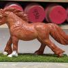 Roddie - Custom Safari Ltd TOOB Running Pony - Martha Bechtel - Left