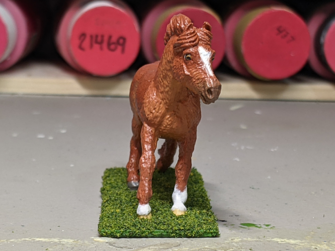 Roddie - Custom Safari Ltd TOOB Running Pony - Martha Bechtel - Nose