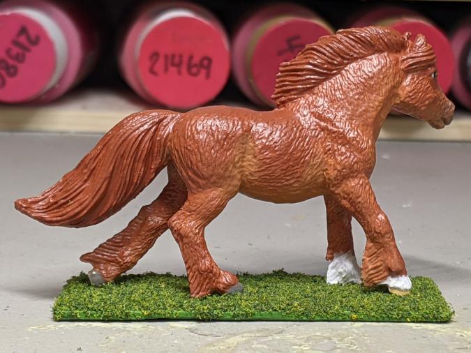 Roddie - Custom Safari Ltd TOOB Running Pony - Martha Bechtel - Right