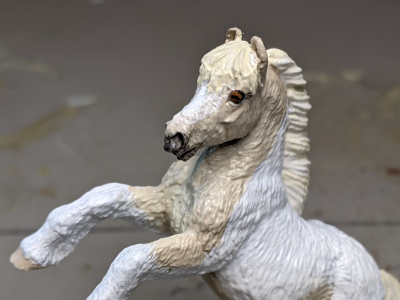 Shiloh - Custom Safari Ltd TOOB Rearing Pony - Martha Bechtel - Headshot