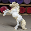 Shiloh - Custom Safari Ltd TOOB Rearing Pony - Martha Bechtel - Left