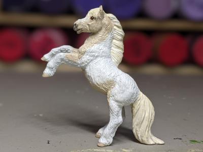 Shiloh - Custom Safari Ltd TOOB Rearing Pony - Martha Bechtel - Portrait