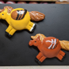 Fat Pegasus Magnets 13 14 - Martha Bechtel - Flock of Two