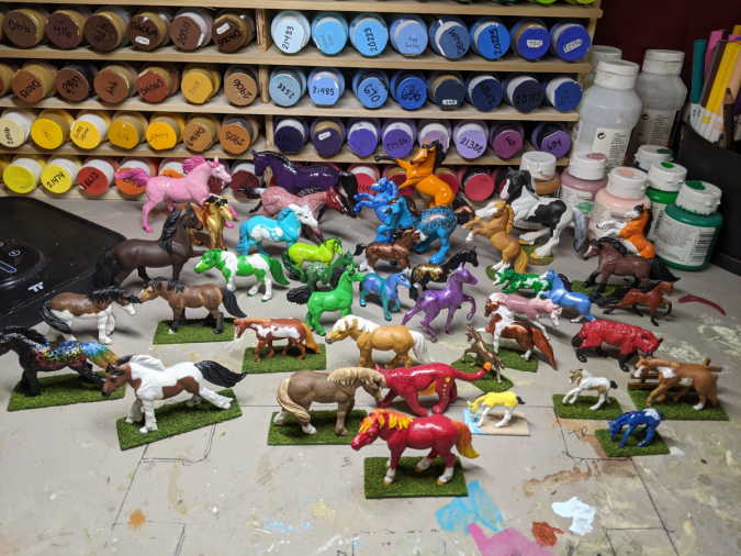 Massive Herd of TOOB Ponies and Breyer Stablemates and Mini Whinnies