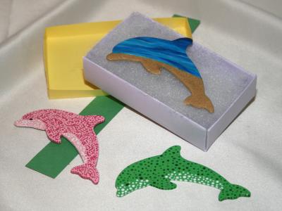 Wooden Dolphin Magnets 19 20 21 - Martha Bechtel - Gift Box