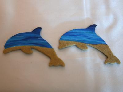 Wooden Dolphin Magnets 6 21 - Martha Bechtel - Siblings