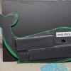Wooden Whale Magnet - 002 Green Dots - Martha Bechtel - Back