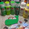 Wooden Whale Magnet - 002 Green Dots - Martha Bechtel - Colors