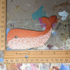 Wooden Whale Magnet - 005 Copper Doodle - Martha Bechtel - Scale