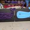 Wooden Whale Magnets - 003 and 004 - Martha Bechtel - Abstract Pals