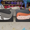 Wooden Whale Magnets - 005 and 001 - Martha Bechtel - White Tummies