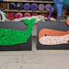 Wooden Whale Magnets - 005 and 002 - Martha Bechtel - Doodles and Dots