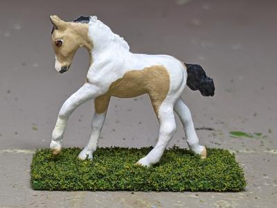 Cupid - Custom Breyer Mini Whinnie Romping Foal - Martha Bechtel - Left