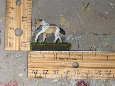 Cupid - Custom Breyer Mini Whinnie Romping Foal - Martha Bechtel - Scale