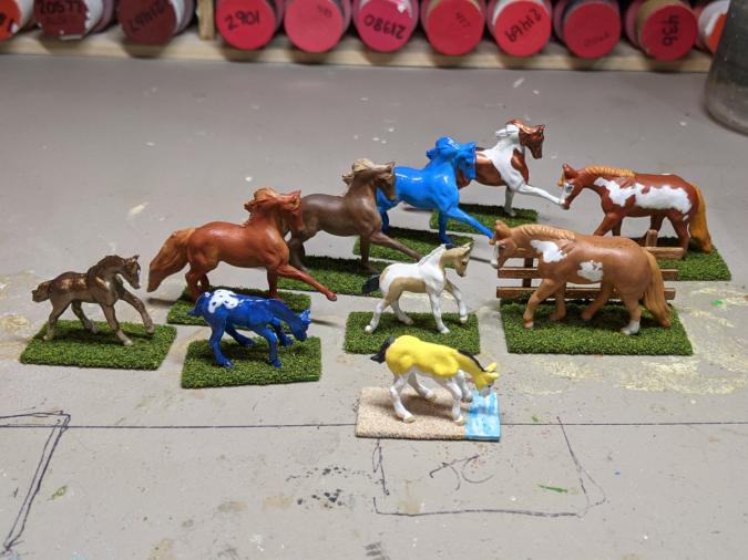 Custom Breyer Mini Whinnies - Martha Bechtel - Bases Group