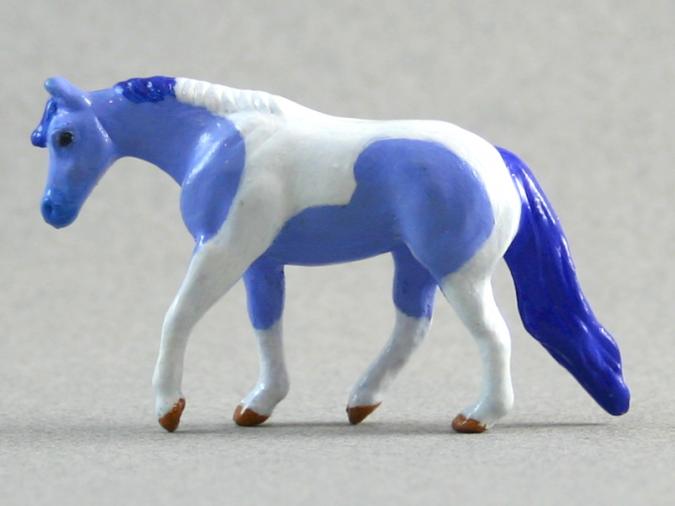 Partly Cloudy - Custom Breyer Mini Whinnie Jog Trot Quarter Horse Mare - Martha Bechtel - Left