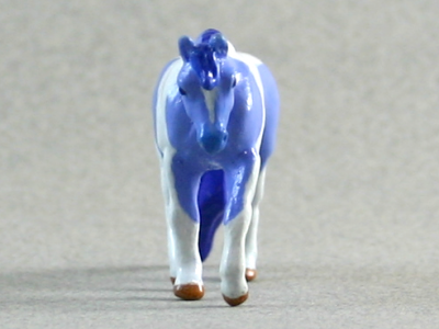 Partly Cloudy - Custom Breyer Mini Whinnie Jog Trot Quarter Horse Mare - Martha Bechtel - Nose