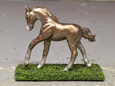 Sprocket - Custom Breyer Mini Whinnie Romping Foal - Martha Bechtel - Left