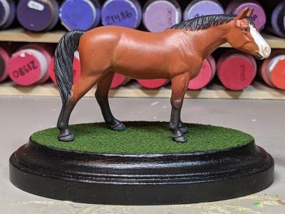 Abby - Custom Breyer Stablemate Quarter Horse - Martha Bechtel - Base