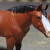Abby - Custom Breyer Stablemate Quarter Horse - Martha Bechtel - Headshot