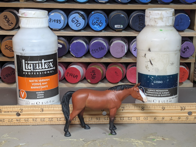 Abby - Custom Breyer Stablemate Quarter Horse - Martha Bechtel - Scale