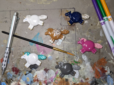 Fat Unicorn Magnets - Gallery Image